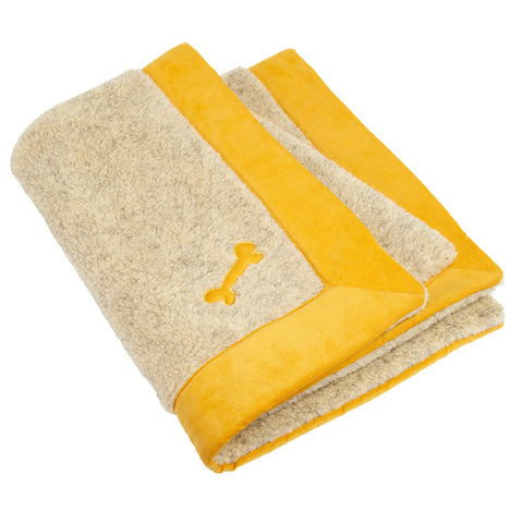 Spencer Corduroy Dog Blanket Yellow