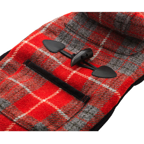 handcrafted red harris tweed designer dog coat