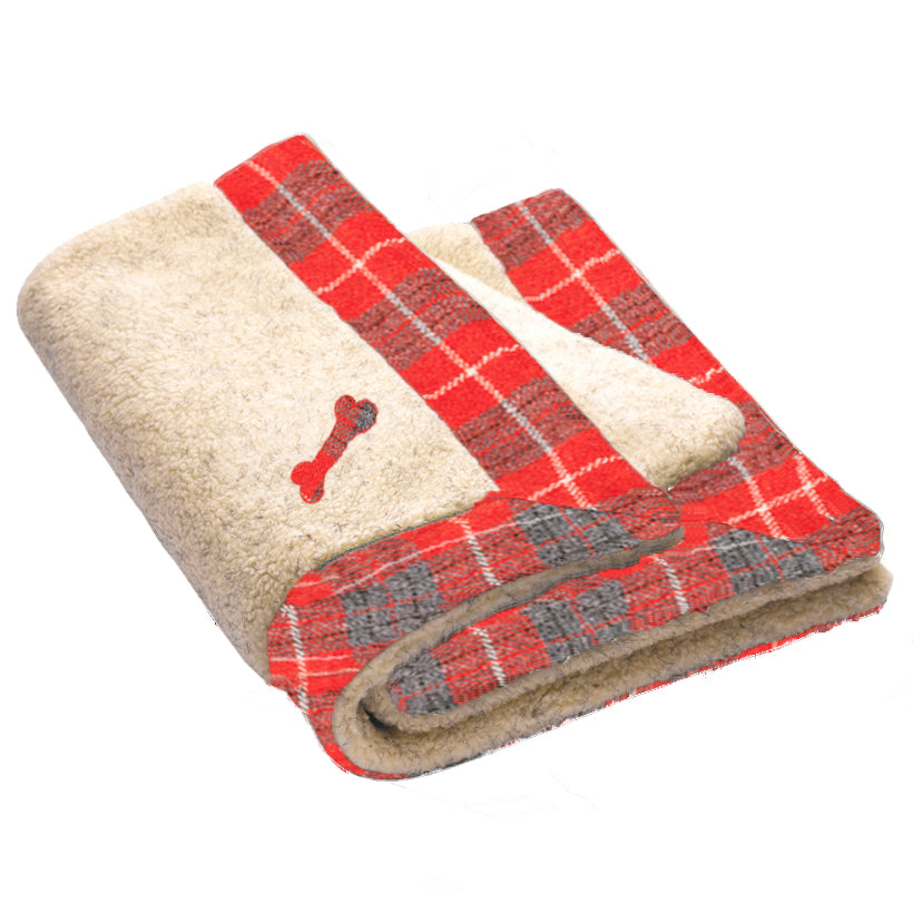 Hoxton Tartan Harris Tweed Dog Blanket
