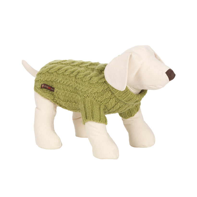 Wilmot Lime Dog Jumper