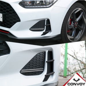 [Convoy] Front Bumper Canard | 2019+ Veloster JS