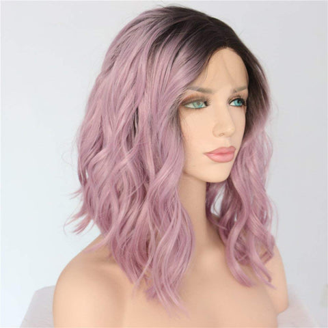 Emeralda Lace Front Wavy Long Bob Wig - 6 Colors - SilkyHairShop.com