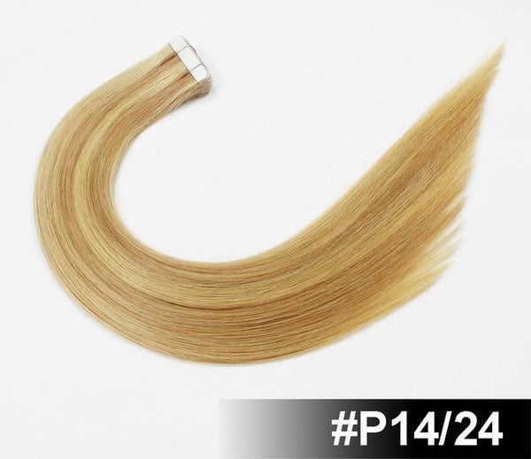 "18"" European Remy Tape In Hair Extensions - SilkyHairShop.com"