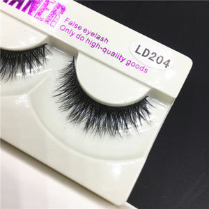Luxurious 100% Faux Mink Crisscross Natural Eye Lashes - SilkyHairShop.com