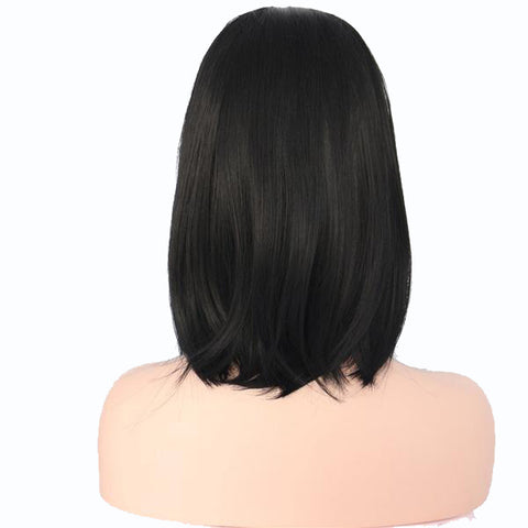 Bianca Lace Front Long Bob color 1B - SilkyHairShop.com