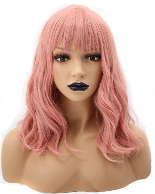 LaLa Long Pink Bob Synthetic Wig - SilkyHairShop.com