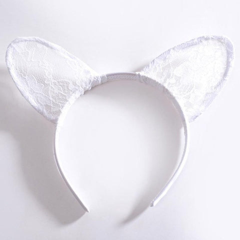 Sexy Lace Cat Ears Headband - SilkyHairShop.com