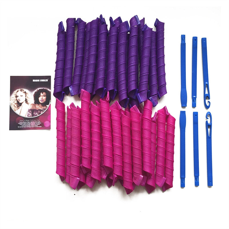 40pcs Salon Pack Magic Hair Curlers with 6pc Curling Rod & Storage Bag - SilkyHairShop.com