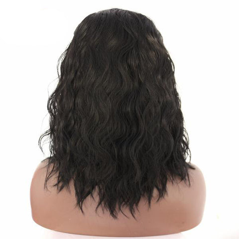 Tanya Long Wavy Bob color 1B - SilkyHairShop.com