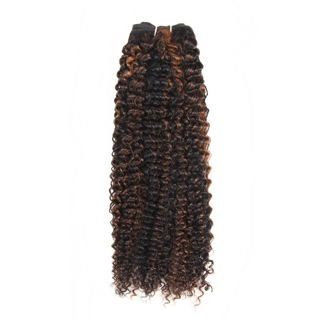 Brazilian Curly Pre-Colored Wefts - 8 inch - SilkyHairShop.com
