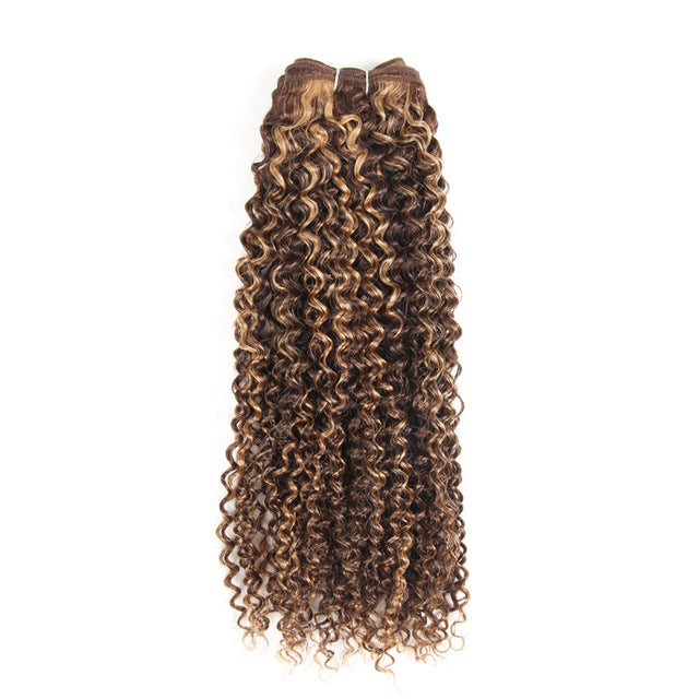 Brazilian Curly Pre-Colored Wefts - 14 inch - SilkyHairShop.com