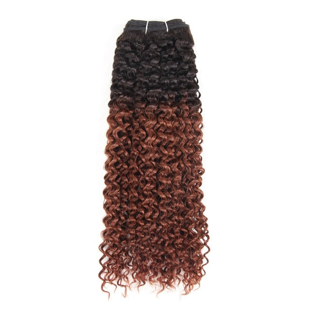 Brazilian Curly Pre-Colored Wefts - 10 inch - SilkyHairShop.com