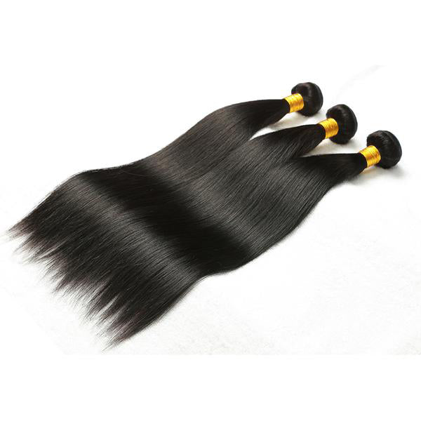 Indian Straight Human Hair 3pcs. - SilkyHairShop.com