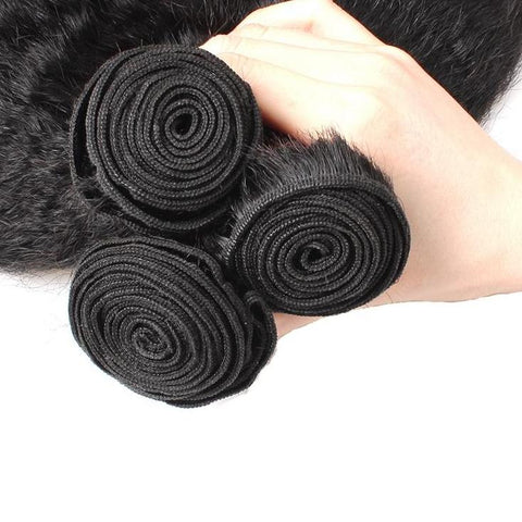 Image of Brazilian Virgin Kinky Straight Human Hair - 3pcs. - SilkyHairShop.com