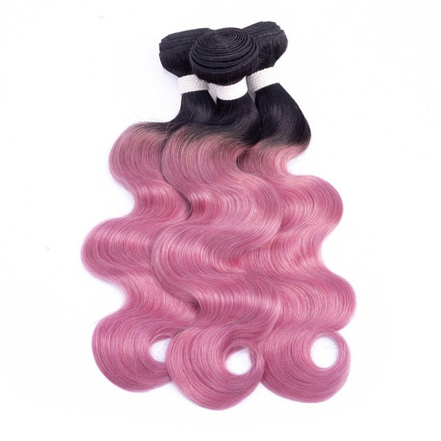 Dark Roots Pre-Colored Ombre Body Wave Remy 100% Human Hair Extensions 1pc. - SilkyHairShop.com