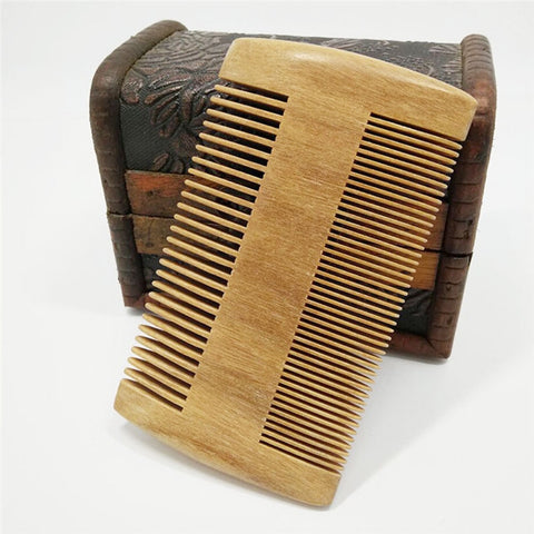 Natural Sandalwood Hand Made Double-sided Anti-Static Wood Comb - SilkyHairShop.com