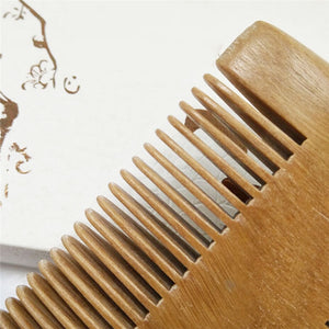 Natural Sandalwood Hand Made Double-sided Anti-Static Wood Comb