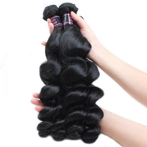 Brazilian Virgin Loose Wave 4pcs. - SilkyHairShop.com