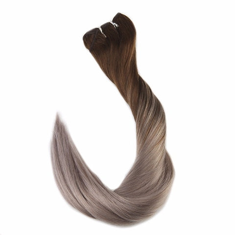 Balayage Remy Double Weft Human Hair Extensions - SilkyHairShop.com