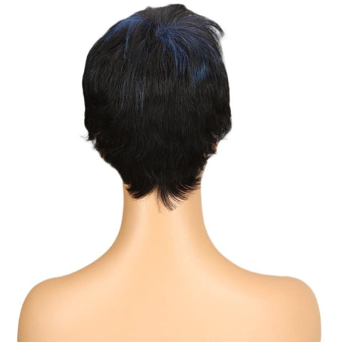 Image of Charlotte Mohawk Remy Human Hair Wig - SilkyHairShop.com