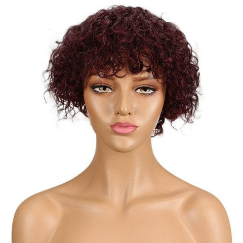 Image of Nina Curly Remy Human Hair Wig - SilkyHairShop.com