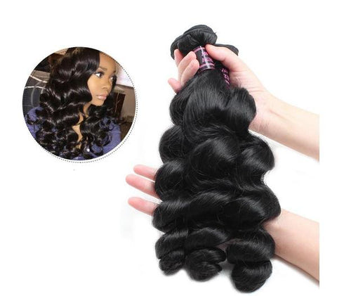 Image of Brazilian Virgin Loose Wave Hair 3 pcs - SilkyHairShop.com