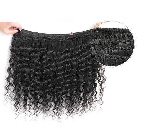 Image of Peruvian Deep Wave Virgin Human Hair 1pc. - SilkyHairShop.com