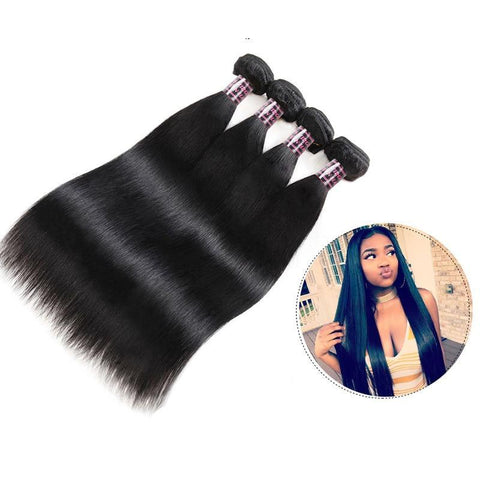 Image of Malaysian Virgin Straight Hair 1, 3 or 4 Bundles - SilkyHairShop.com