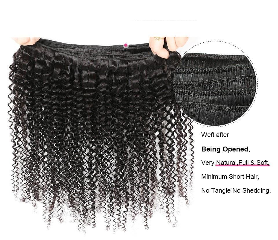 Malaysian Virgin Kinky Curly Hair 2 or 3 Bundles With Middle Part Closure - SilkyHairShop.com