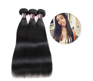 Brazilian Straight Hair 2 or 3 bundles with Lace Frontal