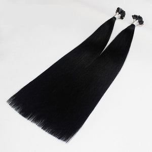Italian Flat Tipped Remy Double Drawn Human Hair Straight Extensions - 100 pcs