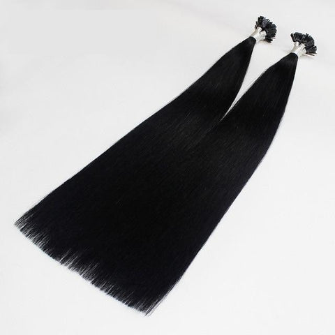 Image of Italian Flat Tipped Remy Double Drawn Human Hair Straight Extensions - 100 pcs - SilkyHairShop.com