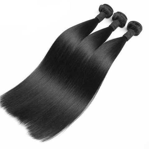 Image of Lux Virgin Remy Natural Straight 3pcs - SilkyHairShop.com
