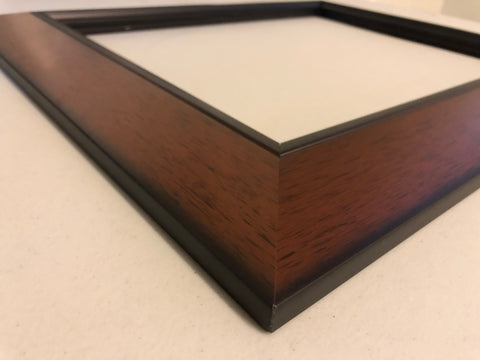 Close up of the edge of our Java frame.