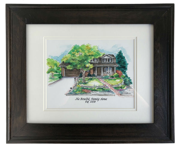 Gorgeous watercolor house painting