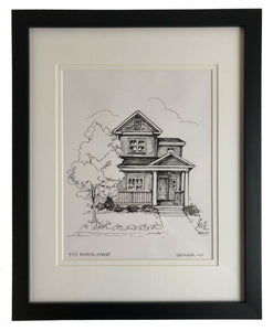custom drawing of your house