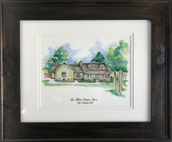 House Portrait - Watercolor Portrait Painting | Bespoke Gifts
