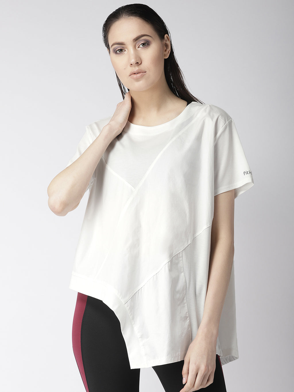 Fitkin Athleisure Asymmetric Lifestyle Top