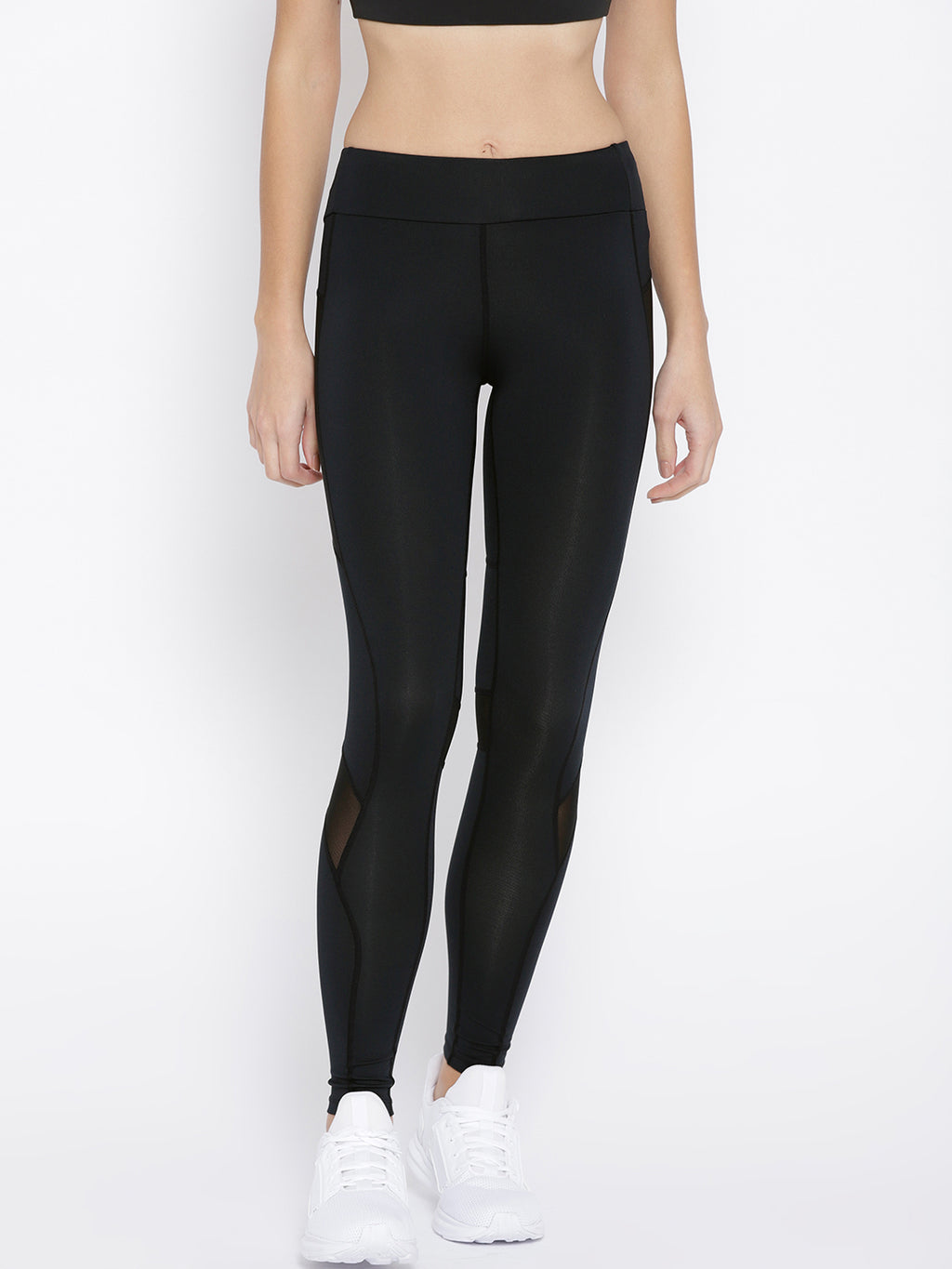 Mesh Panel Crop Leggings