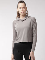 Fitkin Women Grey Self Design Top