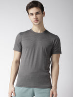 Men Dark Grey Camouflage Pattern T-shirt