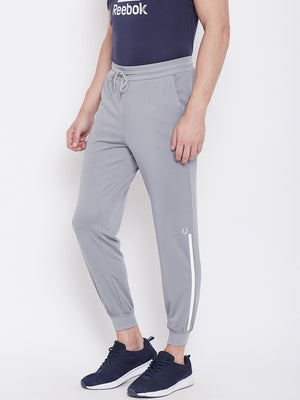 Fitkin Men Grey Solid Joggers