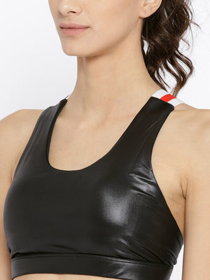 Cross back sports bra with straps with light support