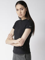 Fitkin Black Training Slim Fit Gym Top