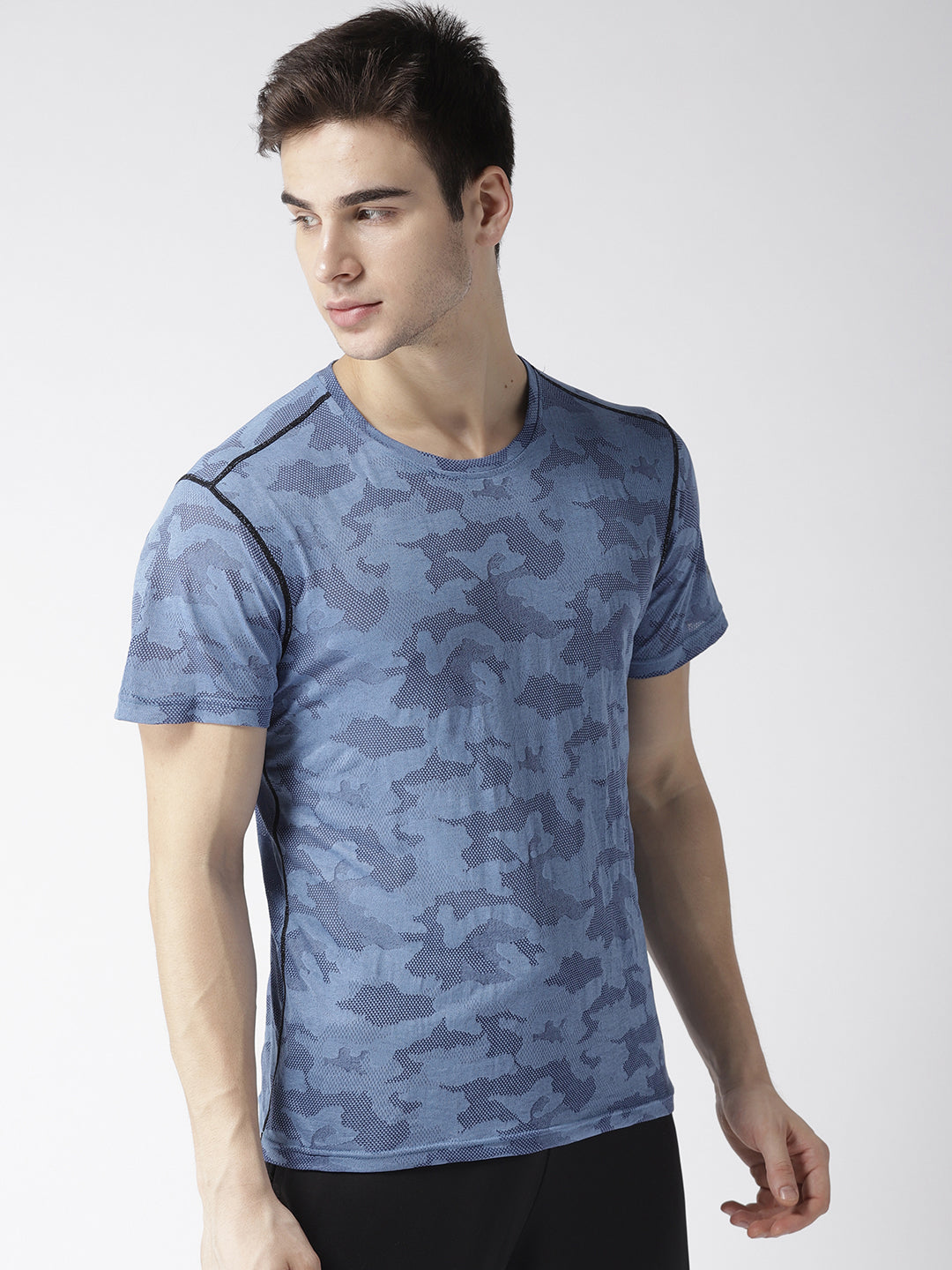 Men Camouflage Pattern T-shirt