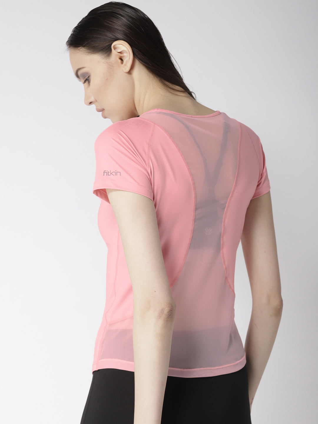 Fitkin Mesh Style Back Short Sleeve Gym T-shirt