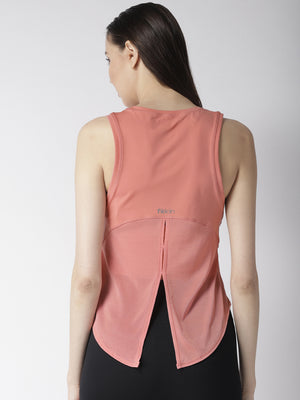Fitkin Relaxed Fit Yoga Back Tie Tank Top