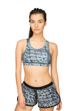 Fitkin Sport Print Double Layer Running Shorts