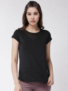 Fitkin women mesh panel gym top