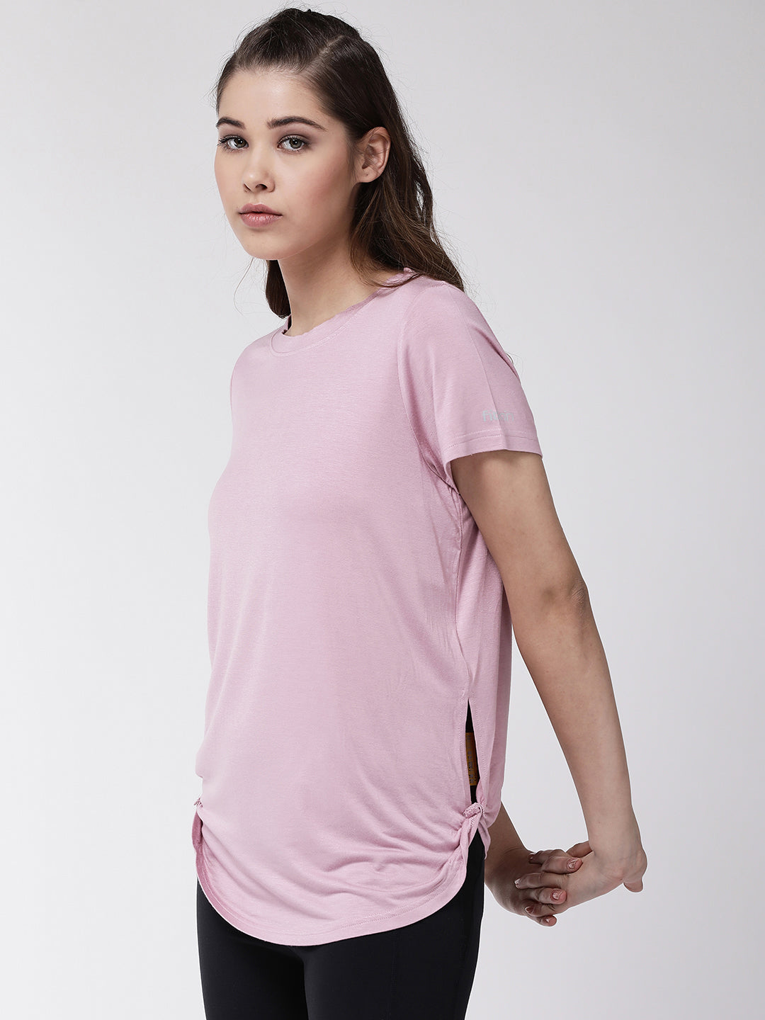 Fitkin women side twist relax fit tshirt